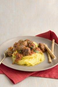 Spaghetti Squash and Meatballs recipe image