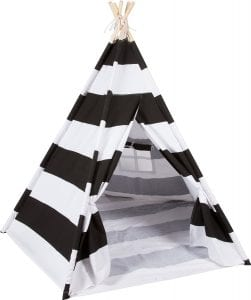 Black and White Striped Teepee