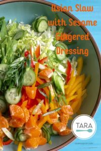 Asian Slaw with Sesame Gingered Dressing Pinterest Pin