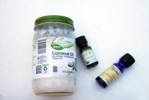 Coconut-oil and essential oils
