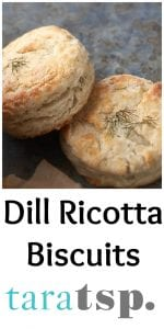 Pinterest image for Dill Ricotta Biscuits with text