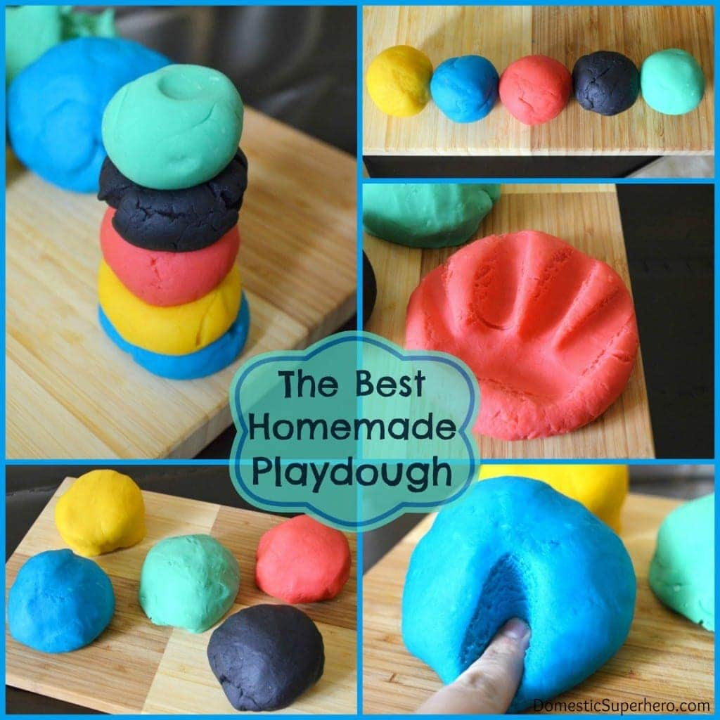 Domestic Superhero Homemade Playdough