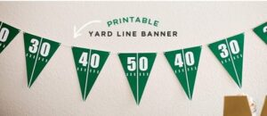 Hostess with the Mostess Super Bowl Printable Football Field Banner