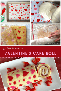Valentine's Cake Roll How to pin image