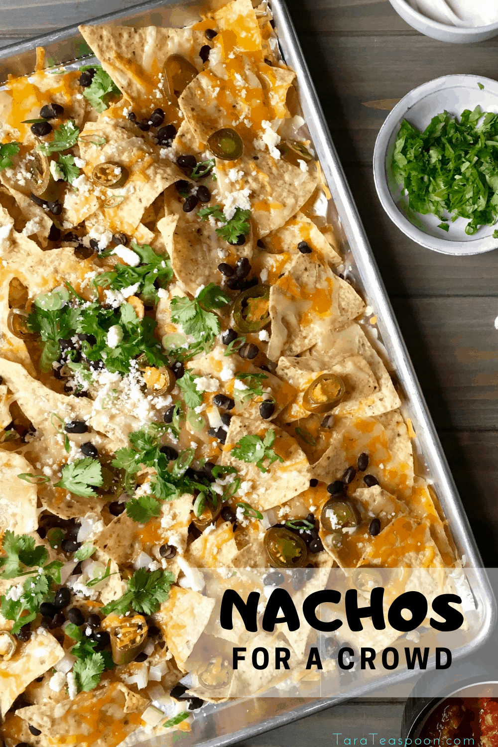 Nachos for a crowd pin with tray