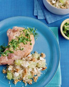 Pork chop dinner with quinoa