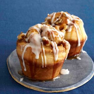 Sticky buns on plate
