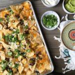 Baking pan with nachos