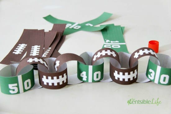 The Centsible Life Super Bowl Paper Chains