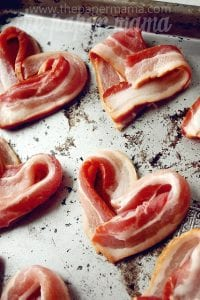The Paper Mama Valentine's Bacon Hearts
