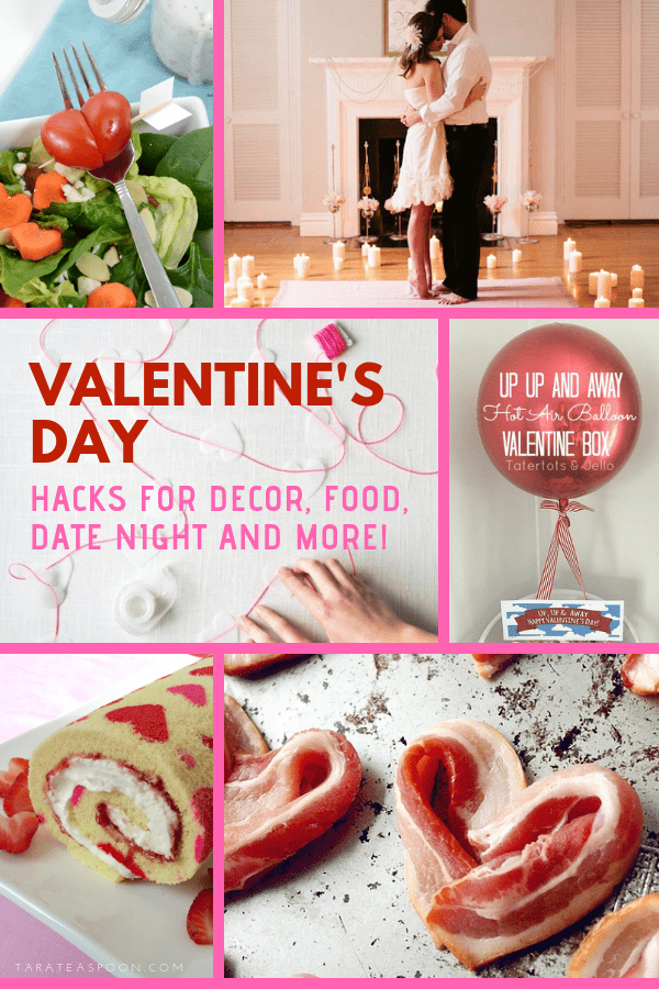 Valentine's Day entertaining ideas pin image