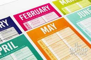 The Dating Divas Date Night Bucket List Planner product image