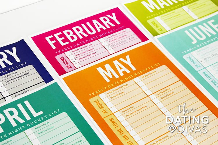 The Dating Divas Date Night Bucket List Planner