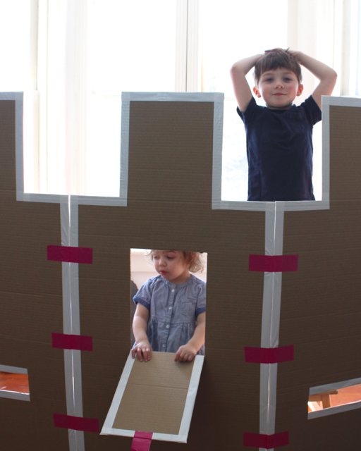 Cloudy Day Gray Cardboard Castle