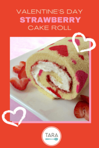 Valentine's Day Cake Roll Close Up Pin