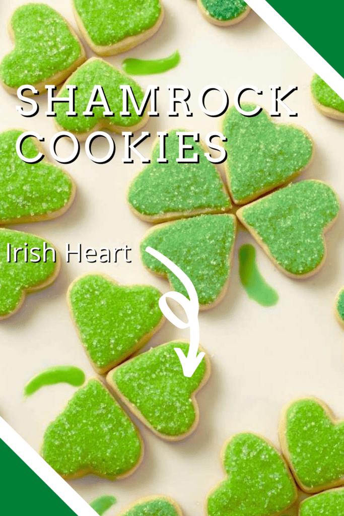 Close up of Shamrock Cookies Pin