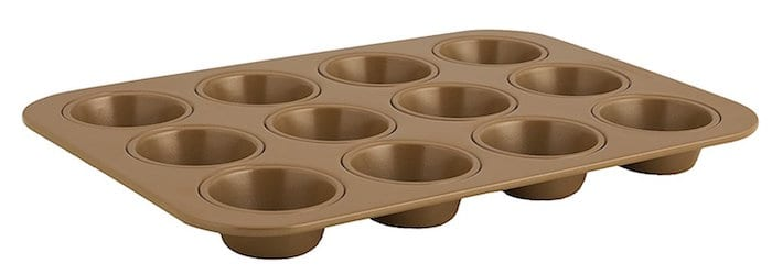 a heavy duty muffin tin for even baking
