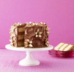 Add a little flower power to your spring with my Almond Flower Cake. Chocolate and almond are a truly divine combination.