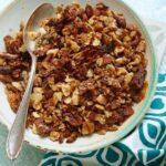Close up image of Crunchy Bacon Granola bowl