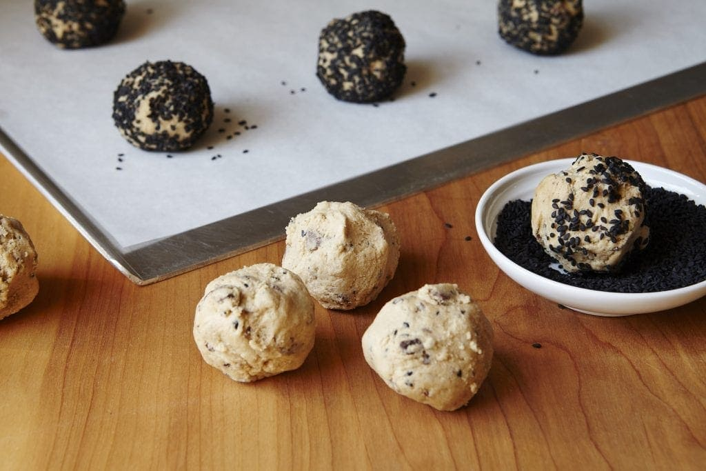 Step image for Black Sesame Cookies