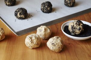 Step image for Black Sesame Cookies