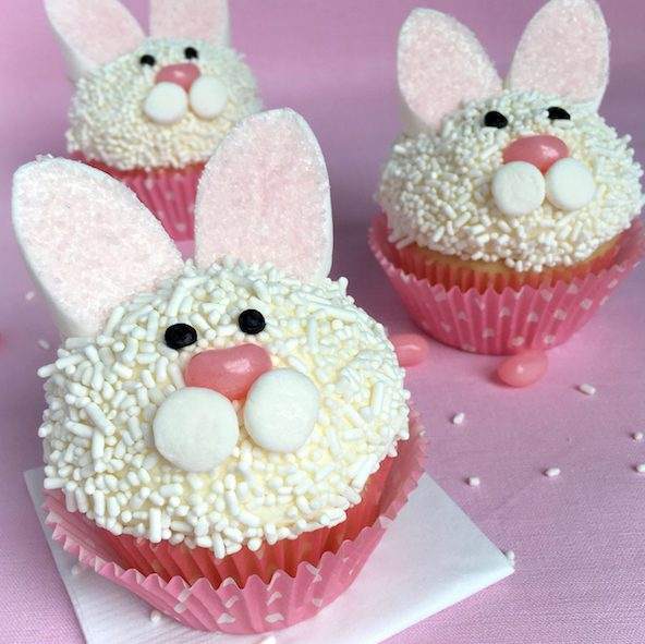 Easy Easter Bunny and Chick Cupcakes