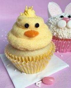 Easter Bunny and Chick Cupcakes recipe image