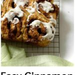 Pinterest image for Easy Cinnamon Rolls with text