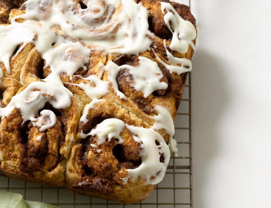 Easy Cinnamon Rolls! There's no waiting for dough to rise--this is a quick, and delicious version of a favorite morning treat.
