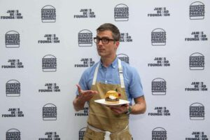 James Beard Foundation winner Blended Burger displayed by Hugh Acheson