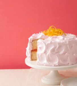 Pink Lemonade goes from the glass to the cake plate with this citrusy, sweet dessert.
