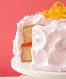 Pink Lemonade cake with candied orange