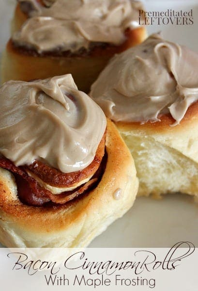 Bacon Cinnamon Rolls with Maple Icing