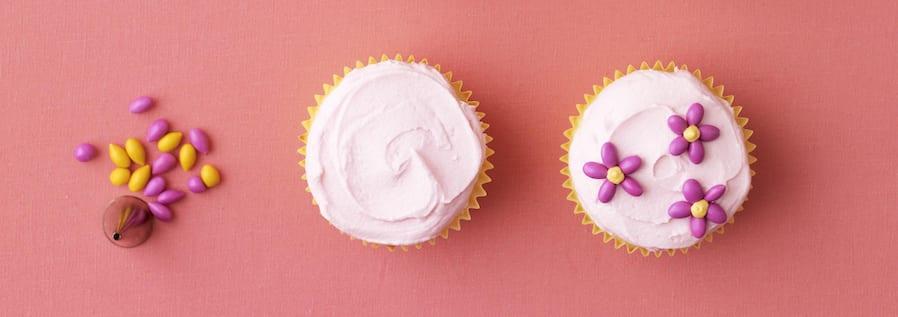Pink Blooms Cupcake