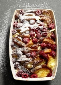 Baked Raspberry French Toast Strata