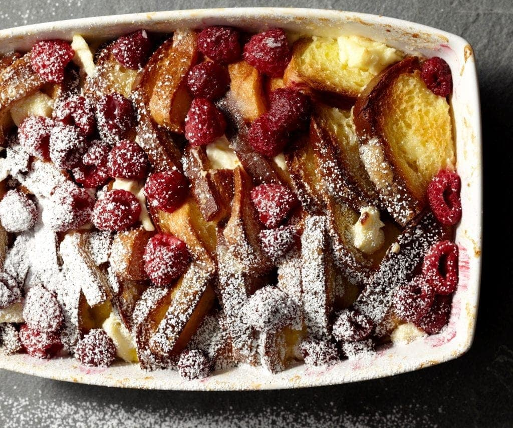 Raspberry French Toast Strata
