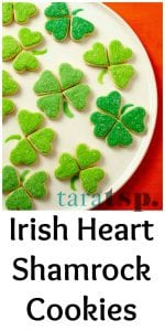 Pinterest image for Shamrock Cookies with text