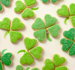 Bite sized St Patrick's Cookies