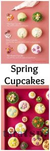 Pinterest image for Spring Cupcakes with text