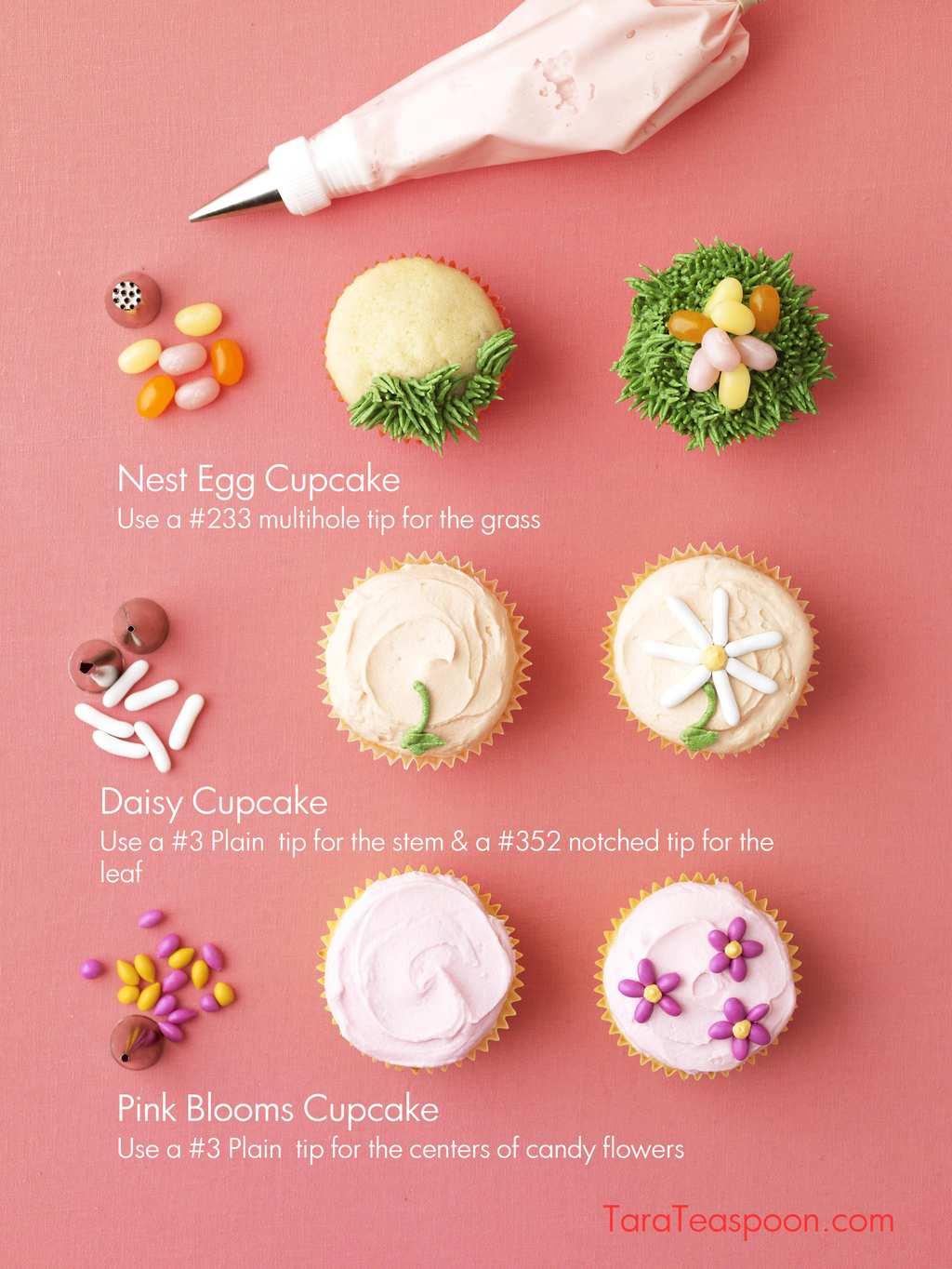 Spring Cupcakes steps to make