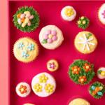 spring cupcakes on pink pin