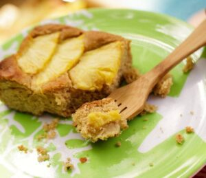 Colse up of Ginger Pineapple Snack Cake feature recipe image