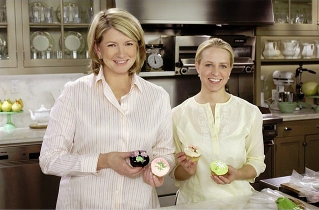 Tara and Martha on the Martha Stewart TV show