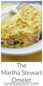 Pinterest image for The Martha Stewart Omelet with text