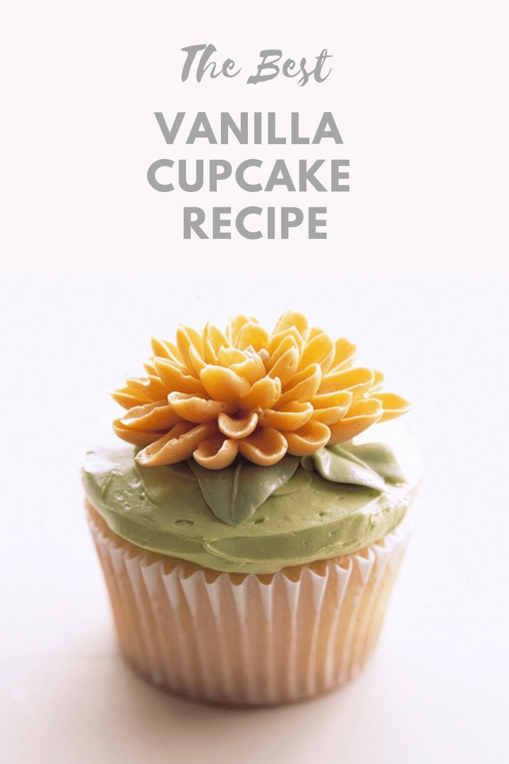 Vanilla Cupcake Recipe pin