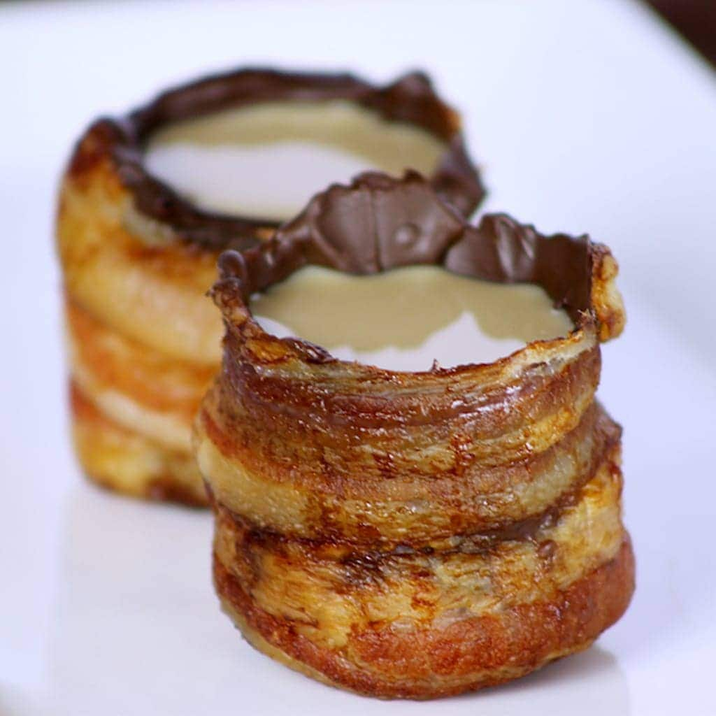 Chocolate Bacon Shot Glasses