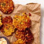 Feature recipe image of Corn and Cheddar Fritters