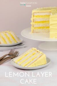 slice of lemon layer cake pin