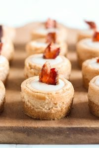 Maple Bacon Mini Cheesecakes recipe image