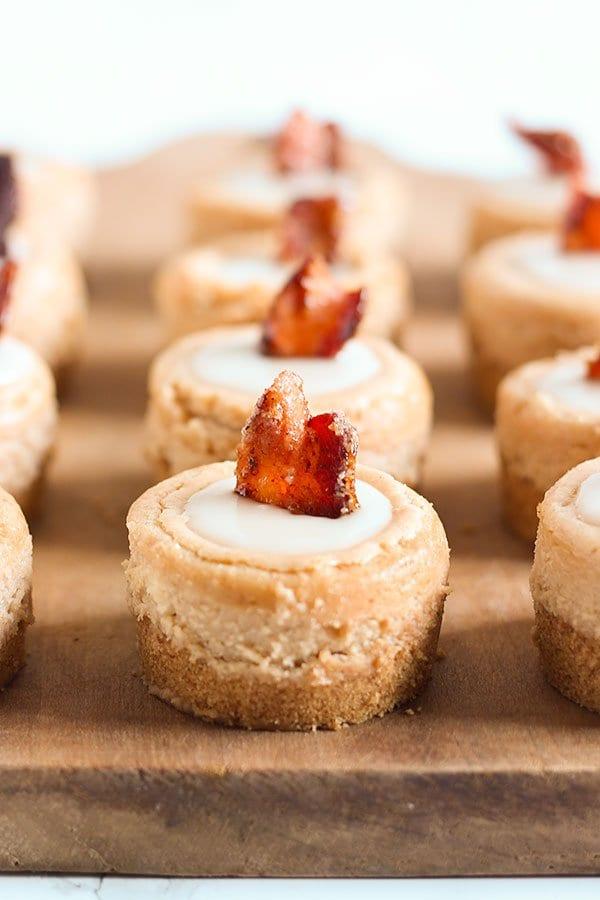 Maple Bacon Mini Cheesecakes